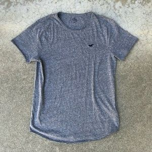 Hollister Collection Grey Logo Soft Loose T Shirt